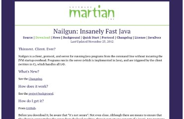 http://www.martiansoftware.com/nailgun/index.html