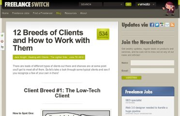 http://freelanceswitch.com/clients/12-breeds-of-client-and-how-to-work-with-them/