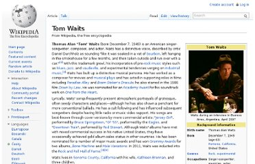 http://en.wikipedia.org/wiki/Tom_Waits