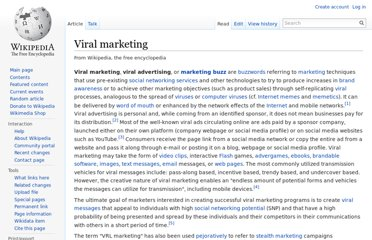 http://en.wikipedia.org/wiki/Viral_marketing