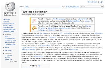 http://en.wikipedia.org/wiki/Parataxic_distortion