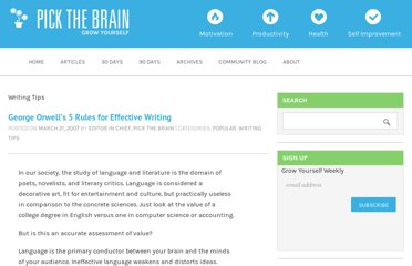 http://www.pickthebrain.com/blog/george-orwells-5-rules-for-effective-writing/
