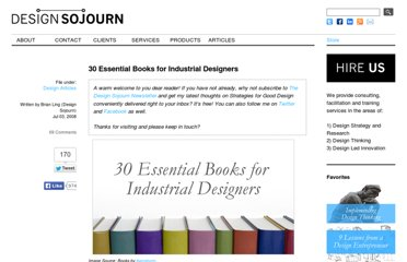 http://www.designsojourn.com/30-essential-books-for-industrial-designers/
