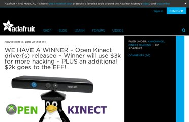 http://www.adafruit.com/blog/2010/11/10/we-have-a-winner-open-kinect-drivers-released-winner-will-use-3k-for-more-hacking-plus-an-additional-2k-goes-to-the-eff/