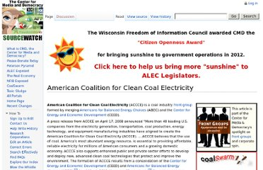 http://www.sourcewatch.org/index.php?title=American_Coalition_for_Clean_Coal_Electricity