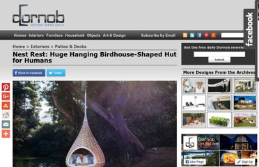 http://dornob.com/nest-rest-huge-hanging-birdhouse-shaped-hut-for-humans/