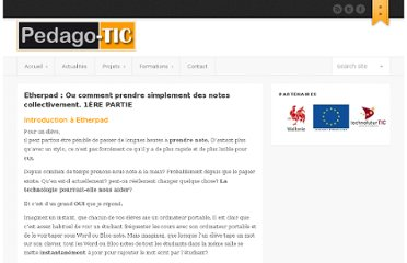 http://www.pedago-tic.be/2010/11/etherpad-ou-comment-prendre-simplement-des-notes-collectivement-1ere-partie/