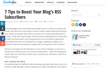 http://creativefan.com/7-tips-to-boost-your-blogs-rss-subscribers/