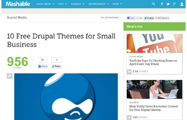 http://mashable.com/2010/11/11/free-drupal-themes-business/