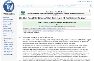 http://en.wikisource.org/wiki/On_the_Fourfold_Root_of_the_Principle_of_Sufficient_Reason
