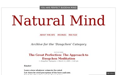 http://naturalmind.wordpress.com/category/dzogchen/