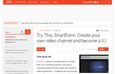 http://thenextweb.com/apps/2010/11/12/try-this-shortform-create-your-own-video-channel-and-become-a-vj/