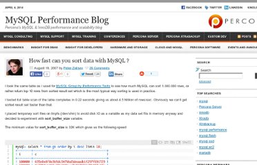 http://www.mysqlperformanceblog.com/2007/08/18/how-fast-can-you-sort-data-with-mysql/