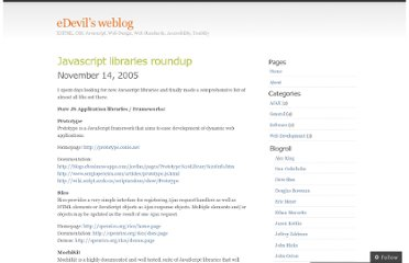 http://edevil.wordpress.com/2005/11/14/javascript-libraries-roundup/