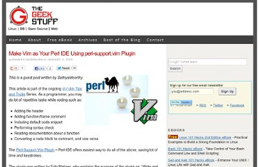 http://www.thegeekstuff.com/2009/01/make-vim-as-your-perl-ide-using-perl-supportvim-plugin/