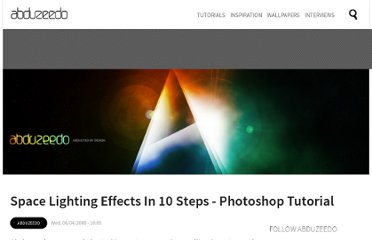 http://abduzeedo.com/space-lighting-effects-10-steps-photoshop-tutorial