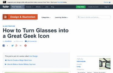 http://vector.tutsplus.com/tutorials/illustration/how-to-turn-glasses-into-a-great-geek-icon/