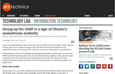 http://arstechnica.com/open-source/news/2009/11/giving-up-the-gimp-is-a-sign-of-ubuntus-mainstream-maturity.ars
