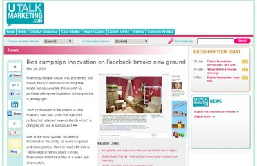 http://www.utalkmarketing.com/pages/Article.aspx?ArticleID=16172&Title=Ikea_campaign_innovation_on_Facebook_breaks_new_ground