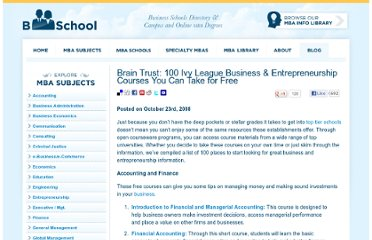 http://www.bschool.com/blog/2008/brain-trust-100-ivy-league-business-entrepreneurship-courses-you-can-take-for-free/