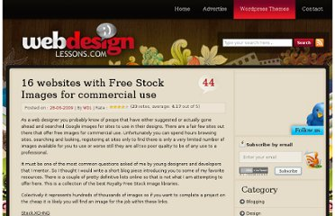 http://www.webdesignlessons.com/16-websites-with-free-stock-images-for-commercial-use/