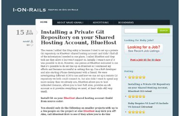 http://ionrails.com/2009/07/15/installing-a-private-git-repository-on-your-shared-hosting-account-bluehost/