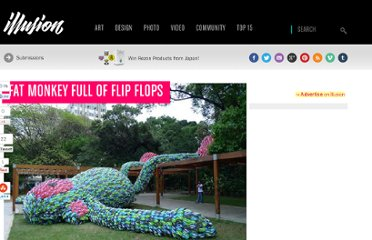http://illusion.scene360.com/art/13373/fat-monkey-full-of-flip-flops/#more-13373