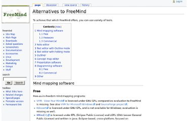 http://freemind.sourceforge.net/wiki/index.php/Alternatives_to_FreeMind