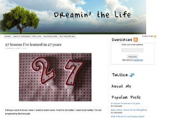 http://dreaminthelife.com/2010/06/27-lessons-ive-learned-in-27-years/