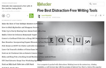 http://lifehacker.com/5689579/five-best-distraction+free-writing-tools
