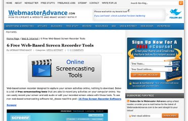 http://www.webmasteradvance.com/6-free-web-based-screen-recorder-tools.html