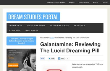 http://dreamstudies.org/galantamine-review-lucid-dreaming-pill/