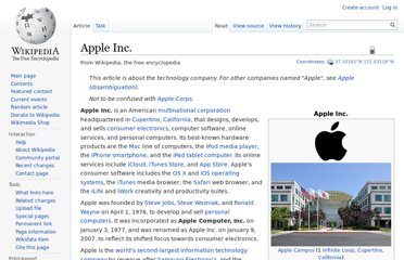 http://en.wikipedia.org/wiki/Apple_Inc.