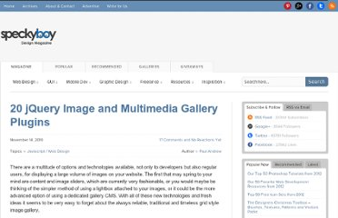 http://speckyboy.com/2010/11/14/20-jquery-image-and-multimedia-gallery-plugins/