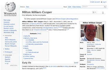 http://en.wikipedia.org/wiki/Milton_William_Cooper