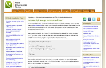 http://www.webdevelopersnotes.com/tips/html/javascript_image_mouse_rollover.php3