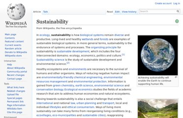 http://en.wikipedia.org/wiki/Sustainability