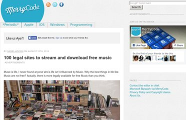 http://blog.merrycode.com/100-legal-sites-to-stream-and-download-free-music/