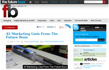 http://thefuturebuzz.com/2009/04/21/marketing-lists/