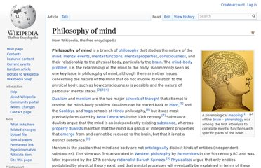 http://en.wikipedia.org/wiki/Philosophy_of_mind