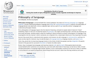 http://en.wikipedia.org/wiki/Philosophy_of_language