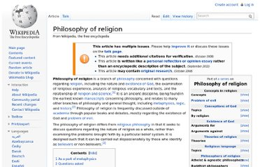 http://en.wikipedia.org/wiki/Philosophy_of_religion