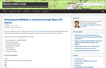 http://www.mikejcorey.com/wordpress/2009/07/26/going-beyond-mymaps-2-advanced-google-maps-api-tutorial/