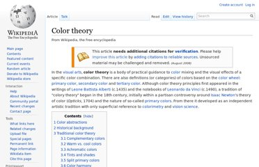 http://en.wikipedia.org/wiki/Color_theory