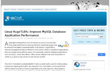 http://www.cyberciti.biz/tips/linux-hugetlbfs-and-mysql-performance.html