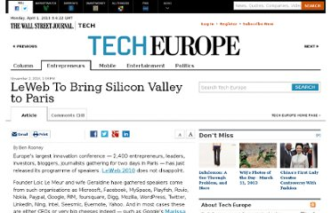 http://blogs.wsj.com/tech-europe/2010/11/02/leweb-to-bring-silicon-valley-to-paris/