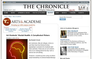 http://chronicle.com/blogs/arts/art-students-mental-health-a-complicated-picture/27923