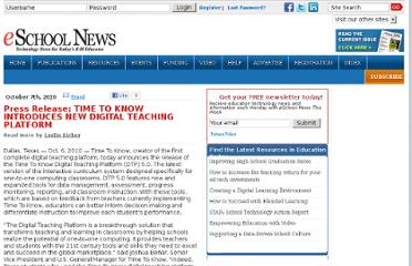 http://www.eschoolnews.com/2010/10/07/time-to-know-introduces-new-digital-teaching-platform/