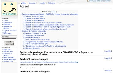 http://guides.creatif-public.net/index.php/Accueil