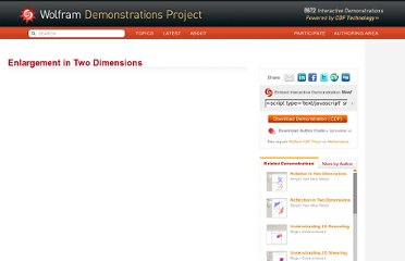 http://demonstrations.wolfram.com/EnlargementInTwoDimensions/